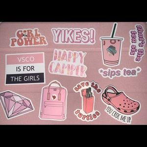Pink 11 count sticker pack